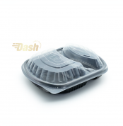 Black Microwivable Container with divider