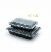Black Rectangler Container 16,24,32 ox