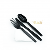 Cutlery set heavey duty Black 500 pcs